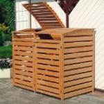 Mülltonnenbox-Holz