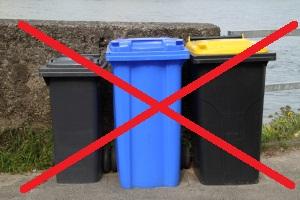 keine herumstehenden Mülltonnen mehr